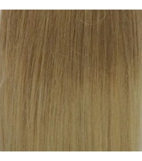 "20"" Ultimate Ombre Clip In Hair Extensions 230g Light Brown/Platinum Blonde"
