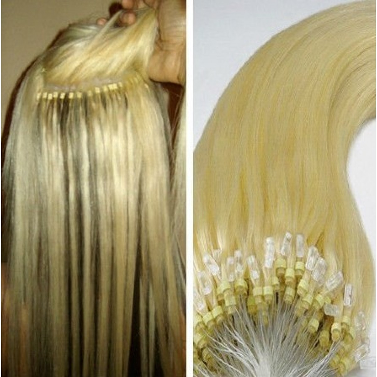 20 Inch Easy Loop Micro Bead Hair Extensions Double Bead 08g