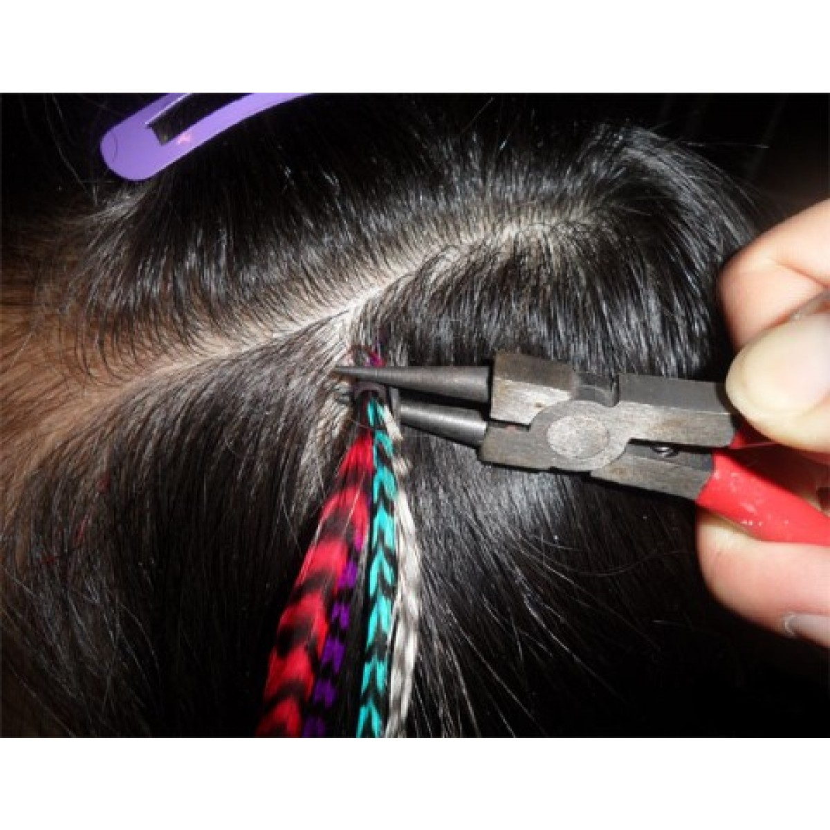 Feather Hair Extensions Coloured Cleopatra Hair Extensions