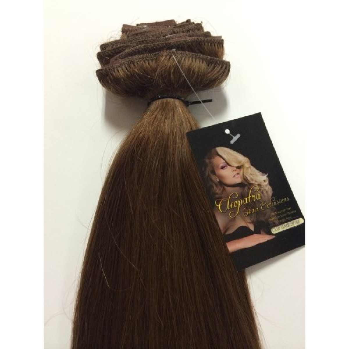 Medium Brown 24 Inch Ultimate Thick Clip In Human Hair