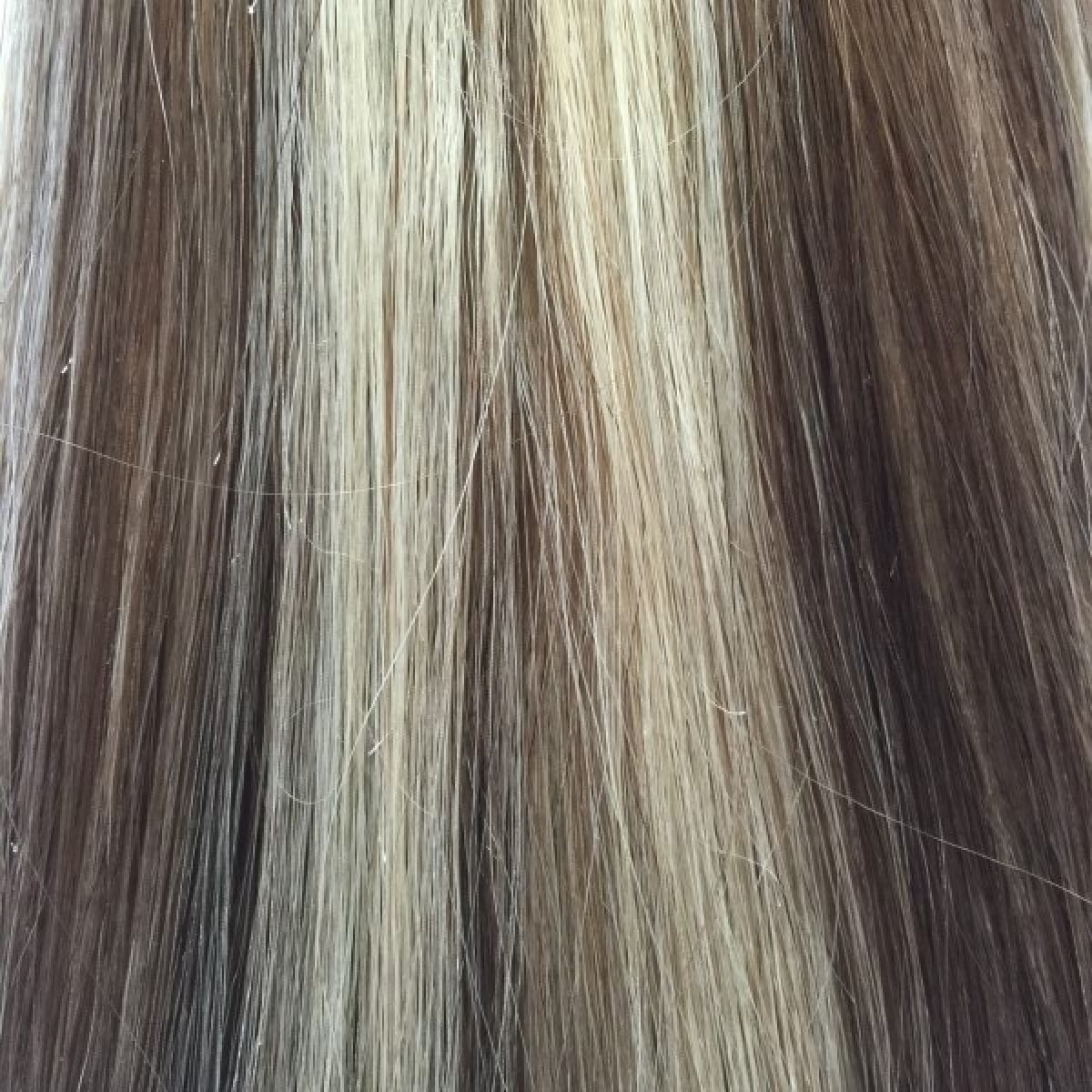 Medium Brown Platinum Blonde Highlights 20 Inch Standard Clip In