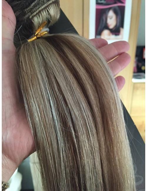 Medium Brown Platinum Blonde Highlights 20 Inch Ultimate