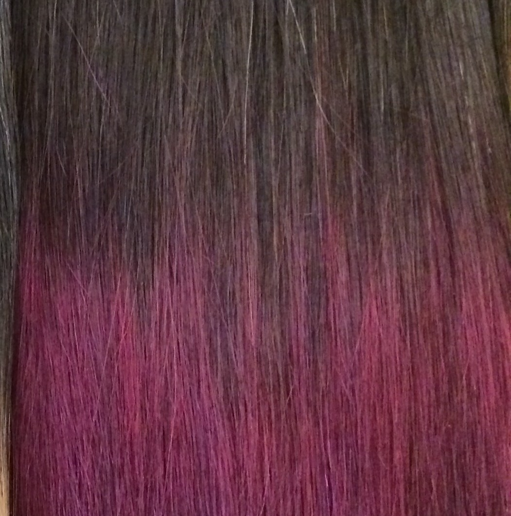 Natural Dark Brown To Burgundy Red 299j 20 Inch Ombre Ultimate