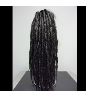 Clip In Ponytail Dreadlock Dark Brown #2