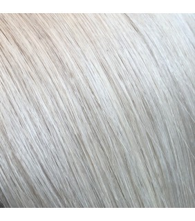"""20"""" Clip In Human Hair Extensions Ash Blonde #60A"""
