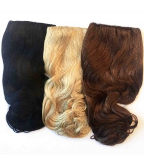 Half Clip In Wig - Black, Blonde, Brown