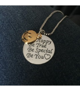 Be Happy Be True Be Special Be You Necklace