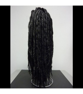 Clip In Ponytail Dreadlock Jet Black #1