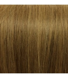 "18"" Clip In Human Hair Extensions Light Brown 110grams"