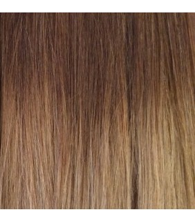 "20"" Ultimate Ombre Clip In Hair Extensions 230g Medium Brown/Light Brown"