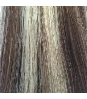 18 Clip In Set 110 grams Medium Brown/Platinum Blonde Highlights #4/12