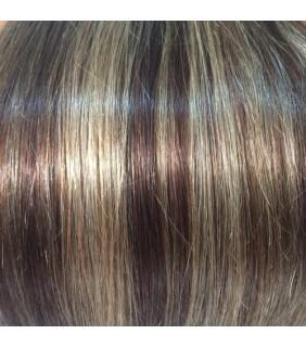 20 Clip In Set 110 grams Natural Brown/Light Brown Highlights #4/12
