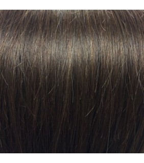 "18"" Clip In Human Hair Extensions Natural Brown #4 140grams"