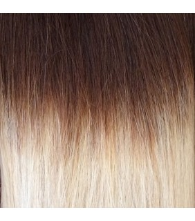 "20"" Ultimate Ombre Clip In Hair Extensions 230g Natural Brown/Platinum Blonde"