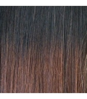 "20"" Ultimate Ombre Clip In Hair Extensions 230g Off Black/Natural Brown"
