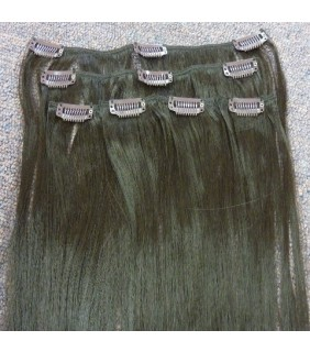 Synthetic Clip In Hair Extensions 6 piece set