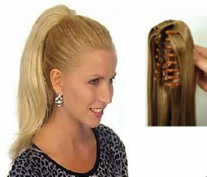 Synthetic Clip In Ponytail Extensions