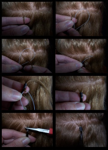 How to put in Easy Loop Micro Bead Hair Extensions