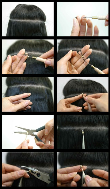 How to put in I-Tip hair extensions
