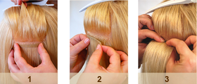 How to put in Tape Hair Extensions
